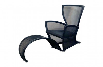 Alias 'Privè' armchair with footrest – des. Paolo Nava 80s