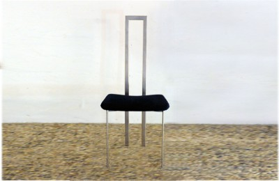 Cattelan Italia 70s chair steel and fabric