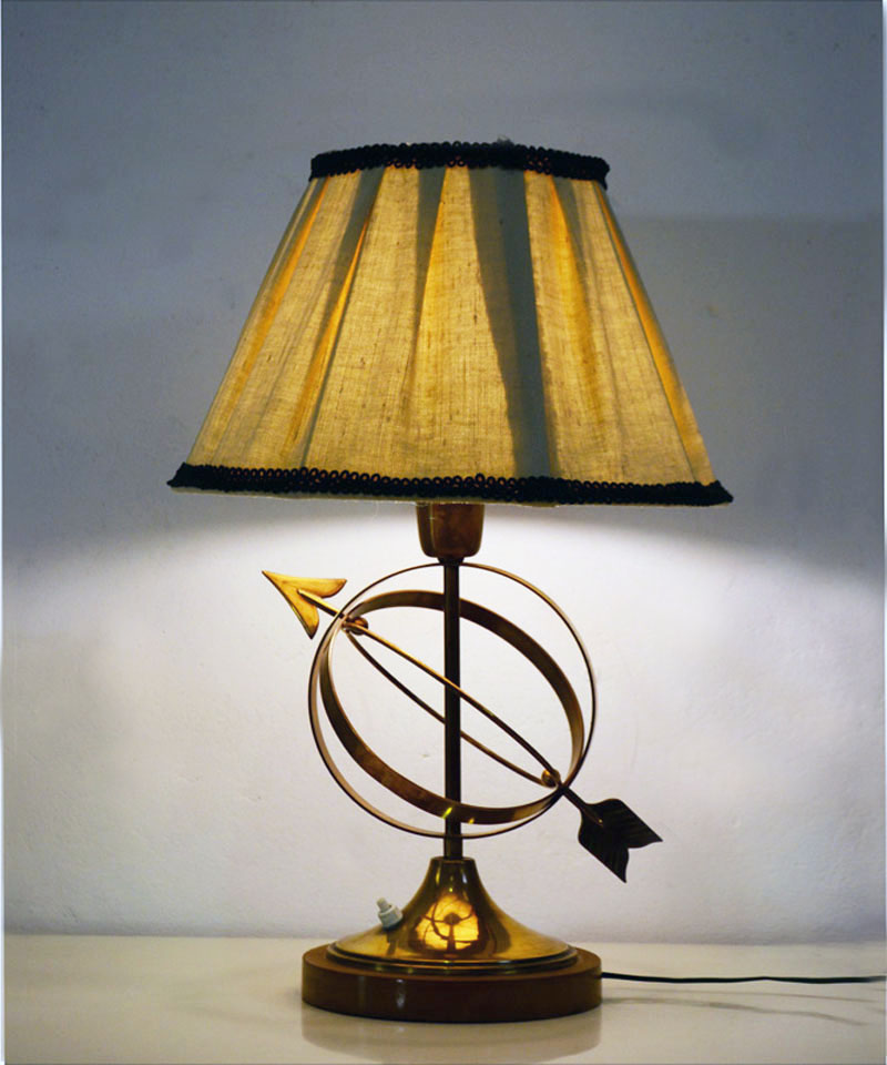 50s table lamp in brass italian production domus nova for Table lamps under 50