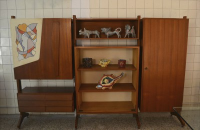Bookshelf/furniture with decoration 50's