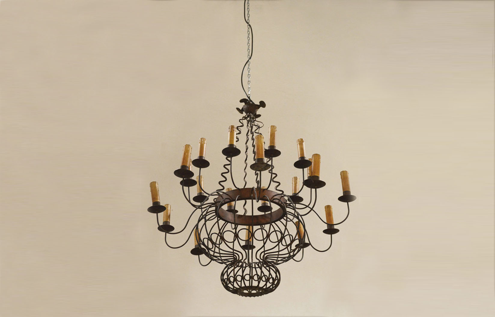 Great 50 39 S Chandelier In Brass Italian Handmade Domus