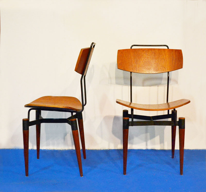 60s wooden chairs in curved plywood domus nova for 60s chair design