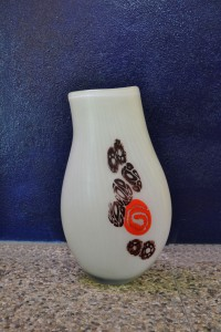Murano-Levante-Afro-anni '70-vaso-murrine-70's-Murano glass-murrina-blown glass