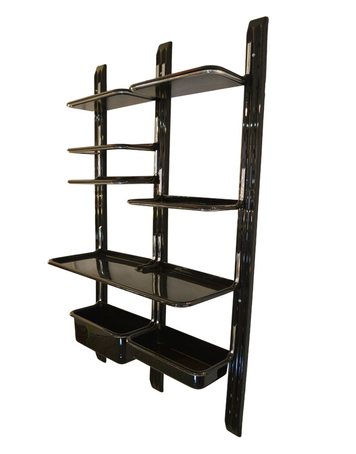70s design plastic wall bookcase by saporiti 39 speedy for Arredamento vintage anni 70