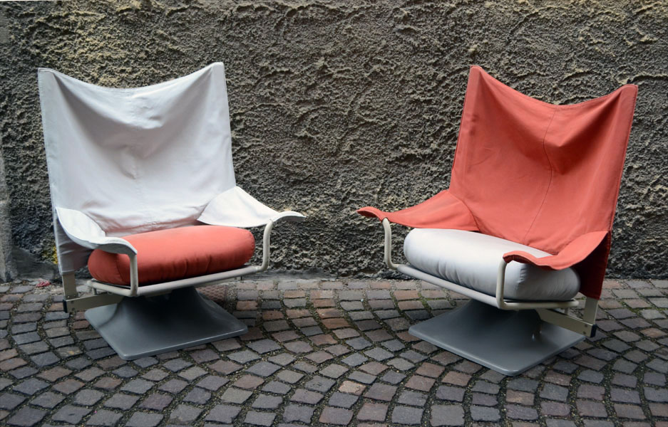 39 aeo 39 armchairs design paolo deganello for cassina in the for Arredamento vintage anni 70