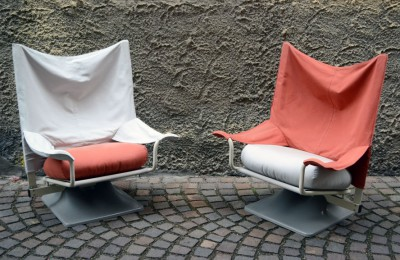 'AEO' armchairs design Paolo Deganello for Cassina in the 70s