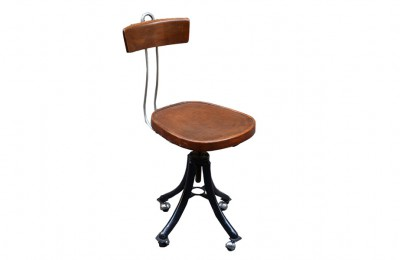Desk stool from the 1940s on wheels