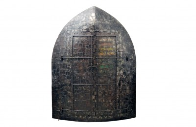 Sculpture iron cabinet 'Madio Medievale' A. Spazzapan