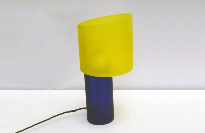 Cenedese Murano 70's table lamp in satin glass