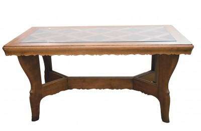 Atelier Borsani 40's table in solid oak wood