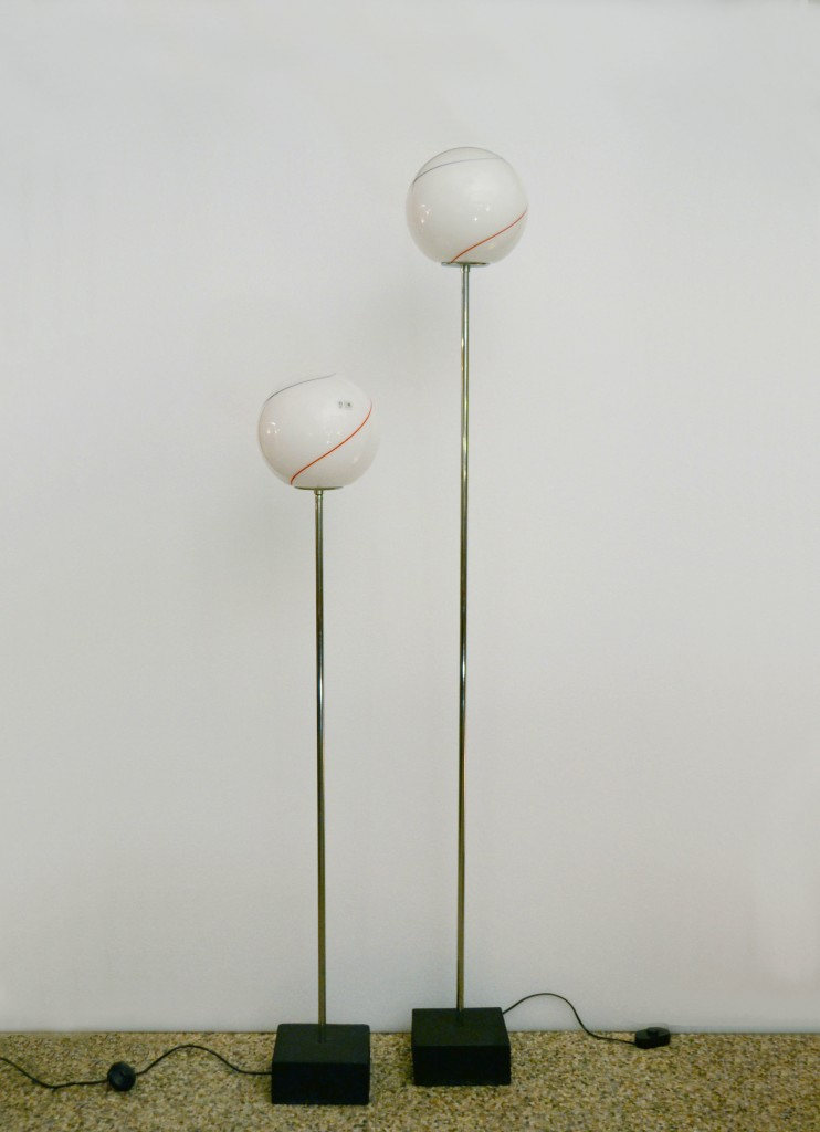 Leucos pair of 70s floor lamps in blown glass domus nova leucos pair of 70s floor lamps in blown glass aloadofball Images