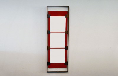Ico Parisi for Stildomus 1960's wall mirror with rosewood frame