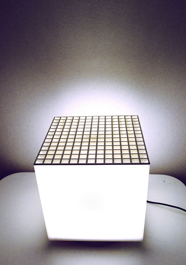 Cini Amp Nils 70 S Cubes Flowerpot And Lamp In Plexiglass