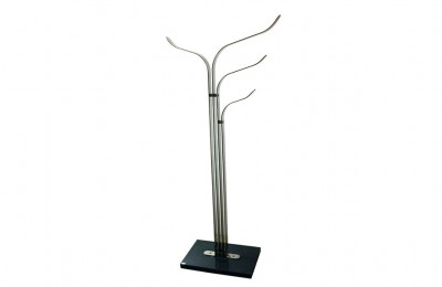 Acerbis Iternational Sculpture-Coat Hanger 1970s in Satin Steel