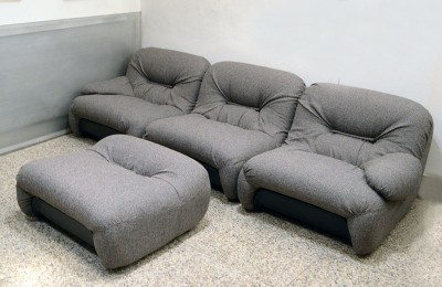 1970's Modular sofa in fabric and plastic prod. 1P model 'Malu'