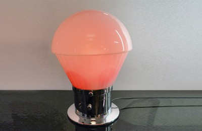 1970's plexiglass lamp with triple ignition and intensity variator