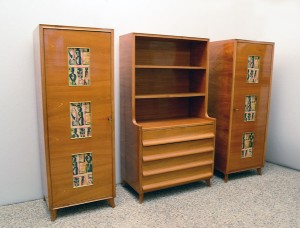 Mobile-anni-'50-decorato-frassino-vintage-furniture-italian-design-mid-century-modernariato