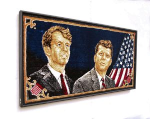 Kenndy-arazzo-anni-'60-Kennedys-president-tapestry-American-flag-1960s-design-decor-italian