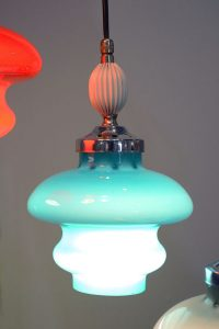 Lampadario-Stilnovo-vetro-colorato-anni-'50-50s-glass-colored-chandelier-mid-century