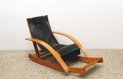 Chaise longue rocking chair G27 design Werter Toffoloni for Germa 1970s