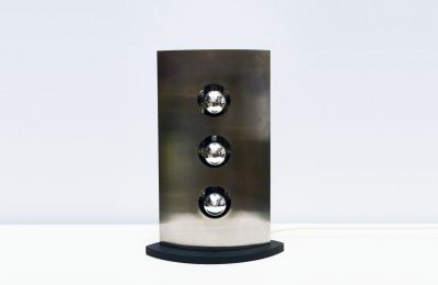 Reggian table Lamp in satin steel with 3 lights