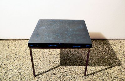 1960′ coffee table in fractal resin by Marie Claude de Fouquieres , France