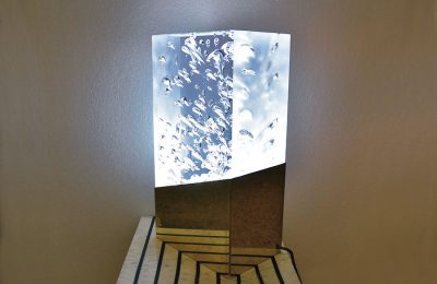 Table lamp in lucite unique piece by Superego