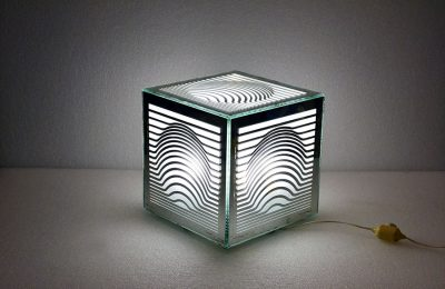 Victor Vasarely very rare optical table lamps, 1960s