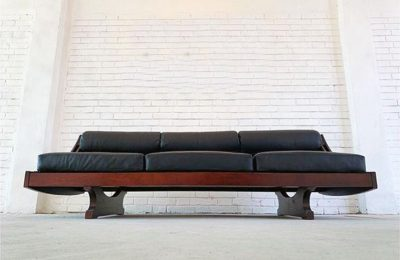 Sormani leather sofa GS195 design Gianni Songia, 1960s