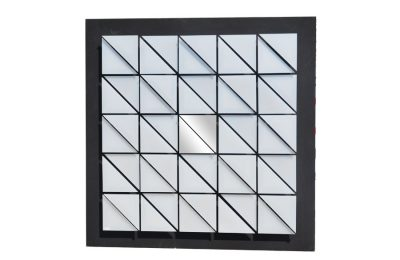 Kinetic panel in silver plexiglass by Giorgio Garbari 1970s