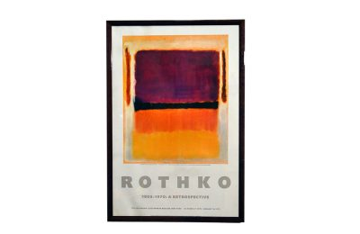 Original poster of Rothko retrospective at Guggenheim 1979