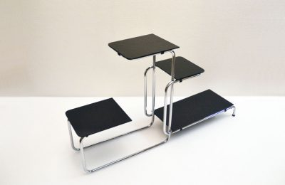 Thonet design Emile Guyot 1930's etagère in steel and glass