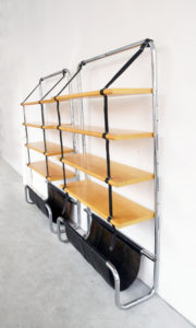 Frau-jumbo-libreria-bookshelf-leather-wood-modernarito-70s-furniture-design-italian