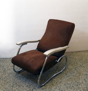 Thonet-reclining-armchair-leather-poltrona-1940s-anni-40-modernariato-design-furniture