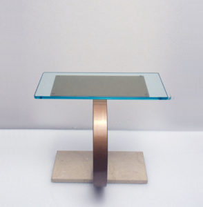 Coffee-table-tavolino-marble-copper-marmo-rame-modernariato-italian-design 1