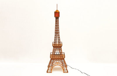 Vintage model of Tour Eiffel in wood, 1960s