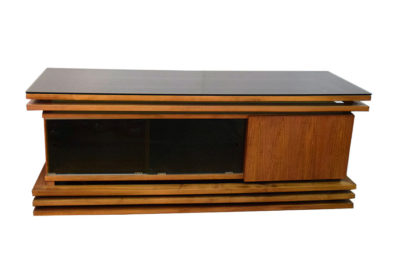 Sideboard in walnut wood, unique piece, 1970s