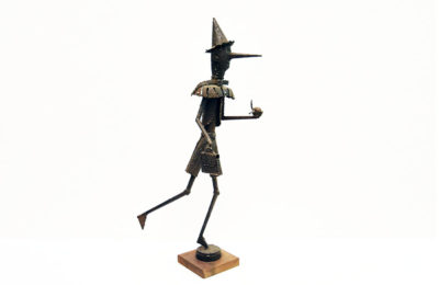 Pinocchio iron sculpture, unique piece, 1960s