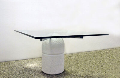 Paracarro concrete table design G.Offredi for Saporiti 1970s