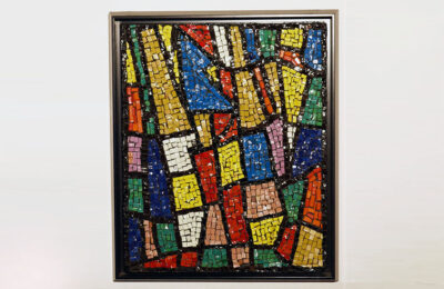Glass mosaic wall panel Italian production, 1960s