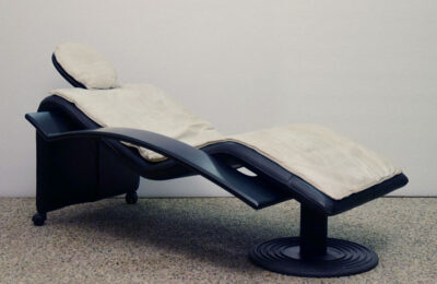 1980's chaise longue on wheels, Italian production